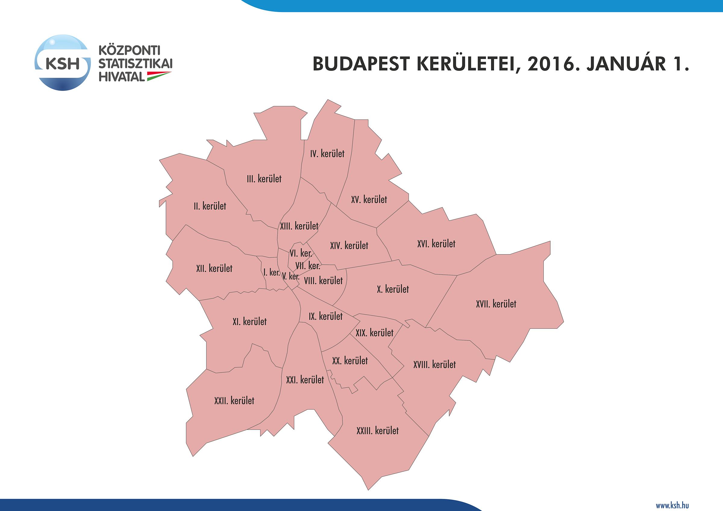 budapest közigazgatási térkép Központi Statisztikai Hivatal budapest közigazgatási térkép