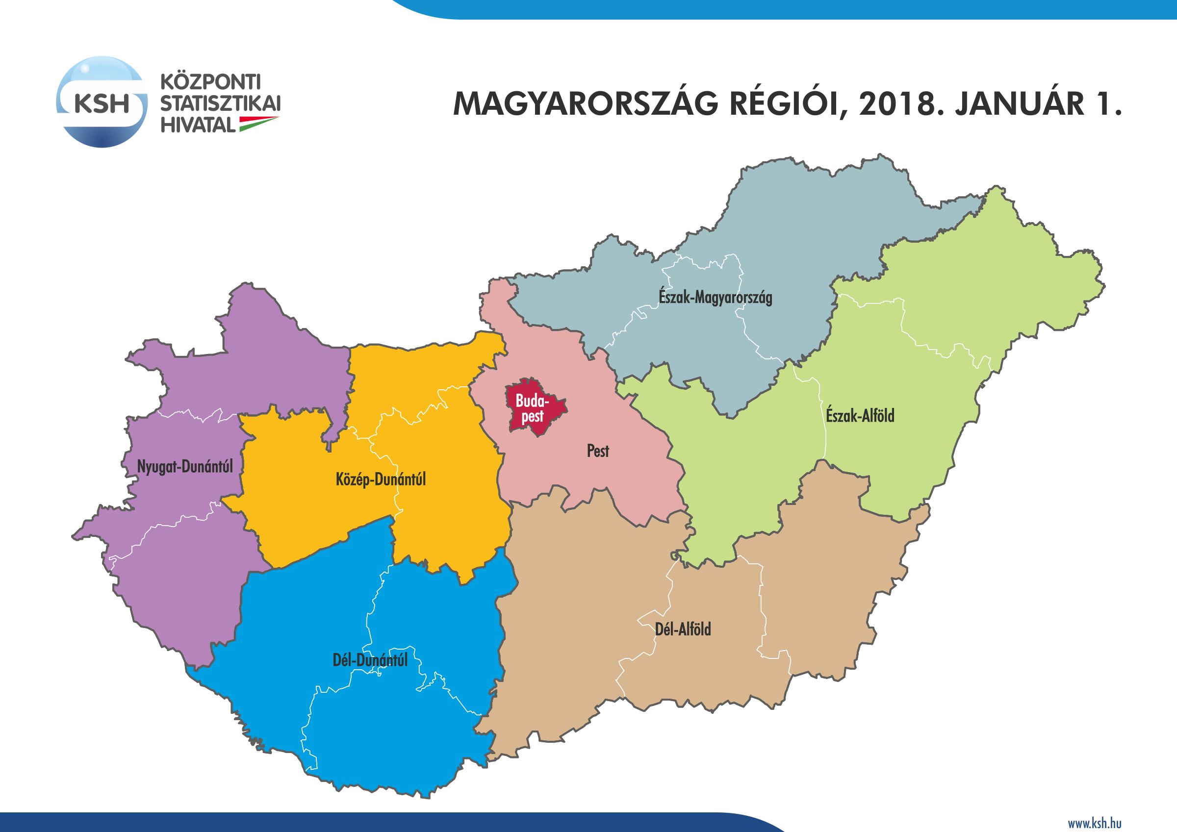 magyarország régiói térkép Központi Statisztikai Hivatal magyarország régiói térkép