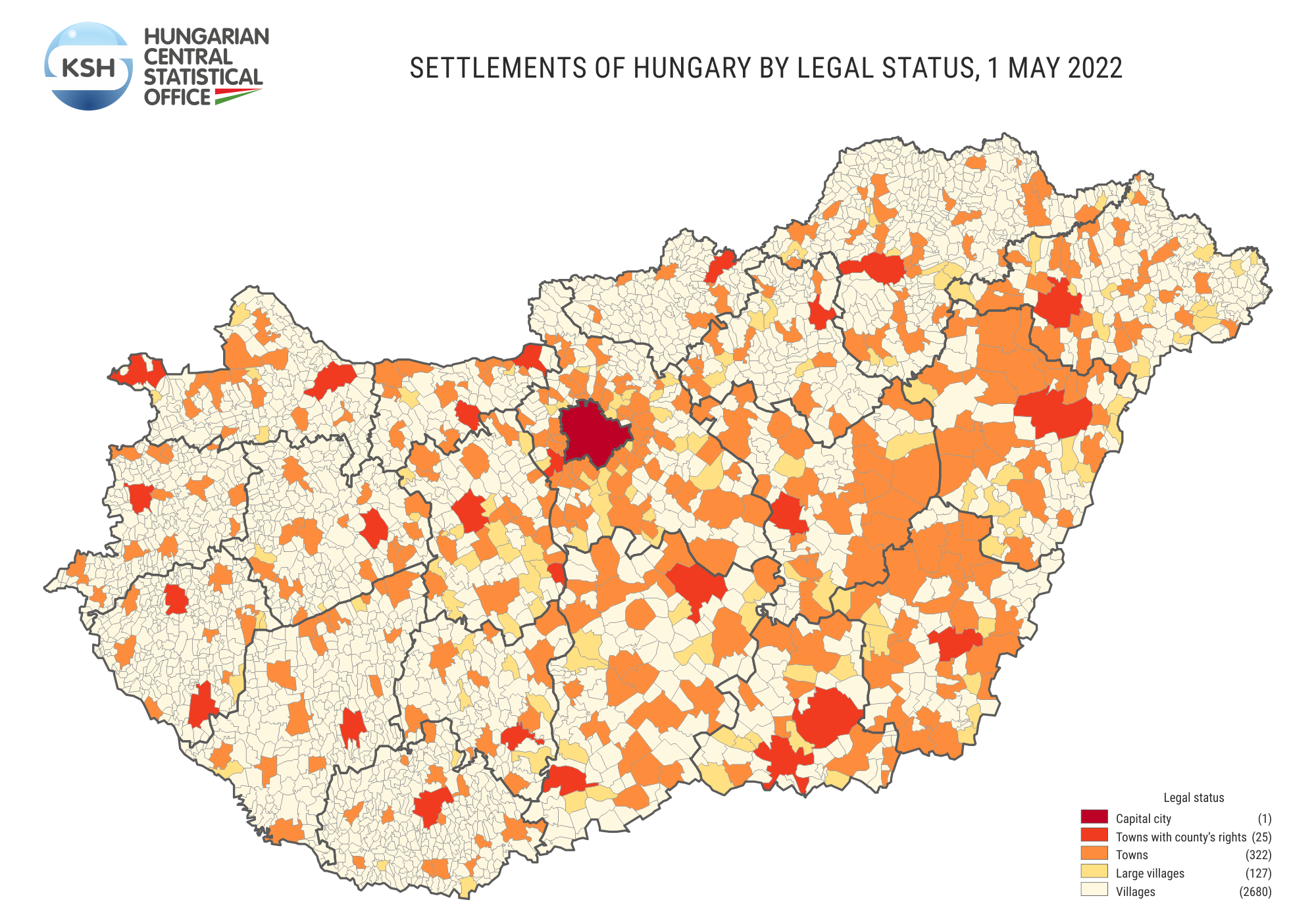 Settlements of Hungary