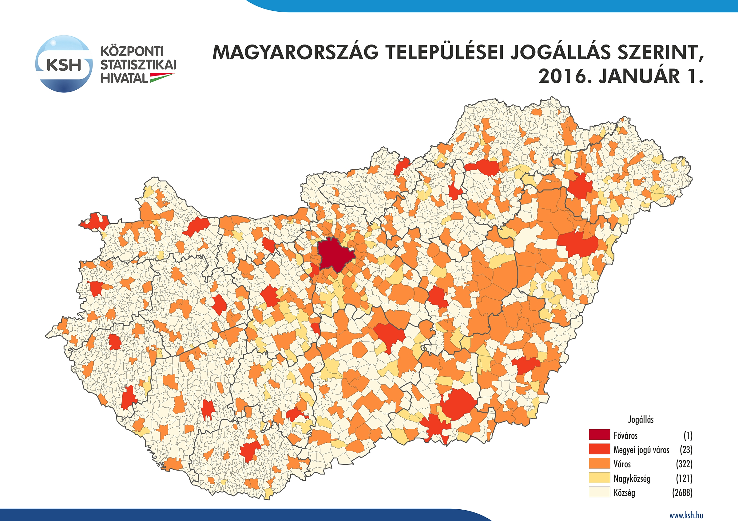 magyarország települései térkép Központi Statisztikai Hivatal magyarország települései térkép
