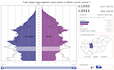 Interactive population pyramid of Hungarian regions (NUTS2) and counties (NUTS3)